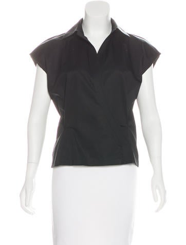 Narciso Rodriguez Sleeveless Surplice Neck Top None