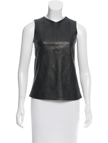 Narciso Rodriguez Leather Sleeveless Top w/ Tags None