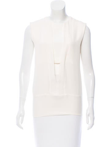 Narciso Rodriguez Sleeveless Silk Top None
