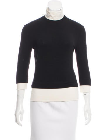 Narciso Rodriguez Wool Turtleneck Top None