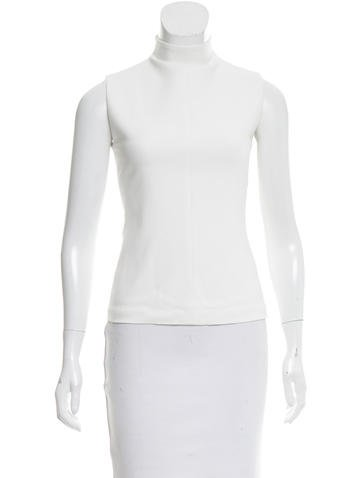 Narciso Rodriguez Sleeveless Mock Neck Top None
