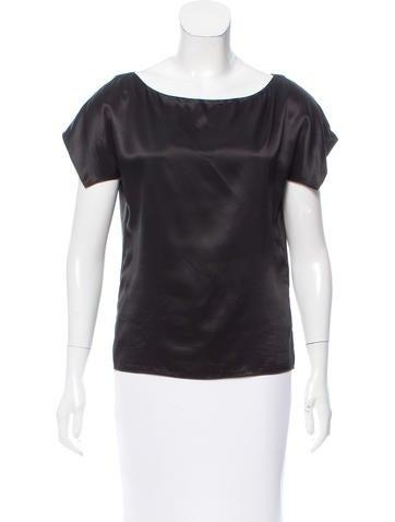 Narciso Rodriguez Short Sleeve Silk Top None