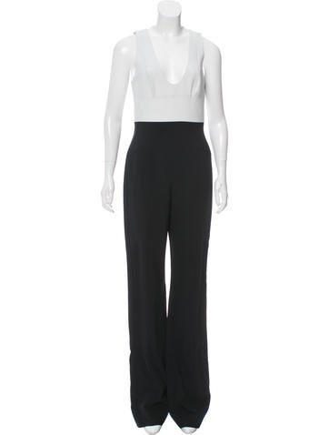 Narciso Rodriguez Colorblock Wide-Leg Jumpsuit None