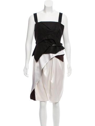 Narciso Rodriguez Contrasted Midi Dress None