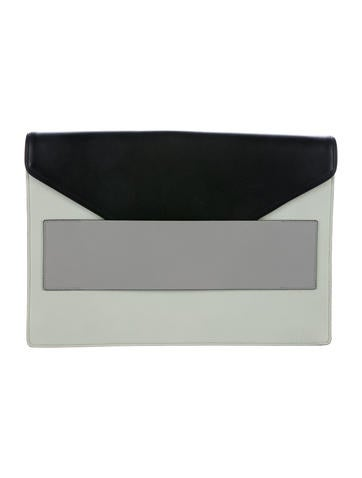 Narciso Rodriguez Tricolor Leather Clutch None