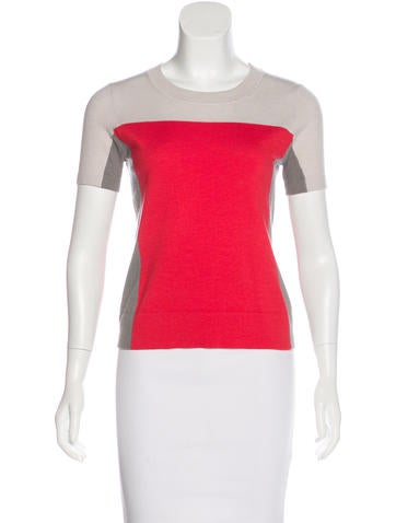 Narciso Rodriguez Wool-Blend Colorblock Top None