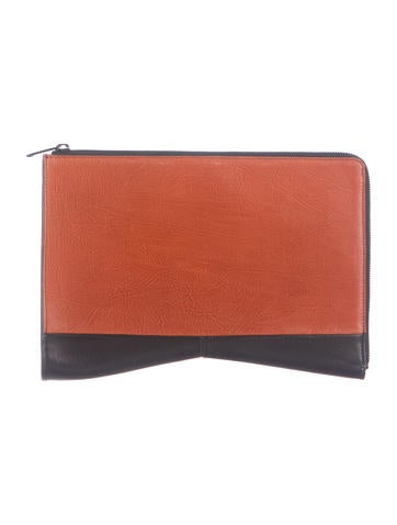 Narciso Rodriguez Tricolor Boomerang Clutch None