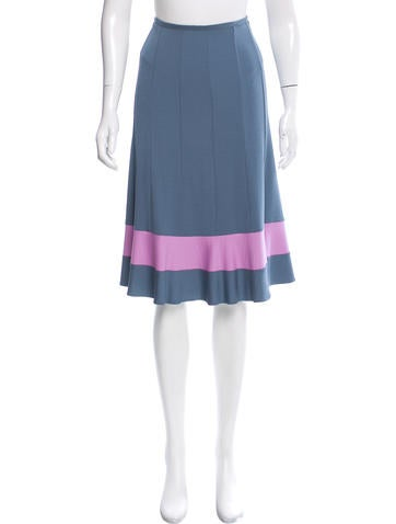 Narciso Rodriguez Flared Colorblock Skirt None