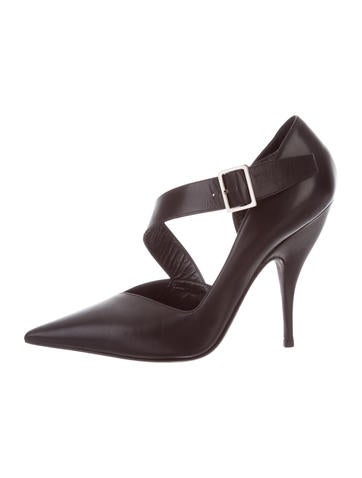 Narciso Rodriguez Pointed-Toe Leather Pumps None