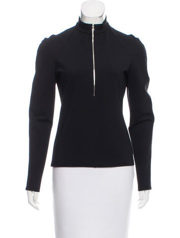 Narciso Rodriguez Zip-Up Wool Sweater None