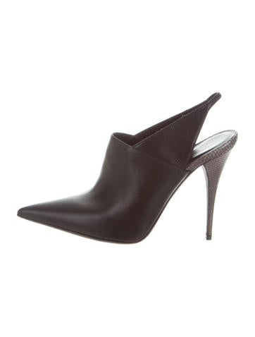 Narciso Rodriguez Pointed-Toe Slingback Pumps None