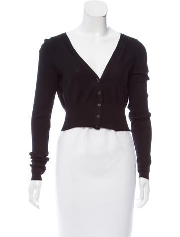 Narciso Rodriguez Cropped Wool Cardigan None