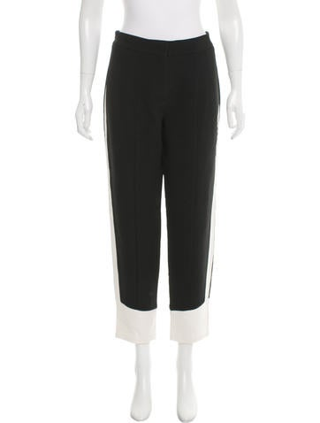 Narciso Rodriguez Mid-Rise Colorblock Pants None