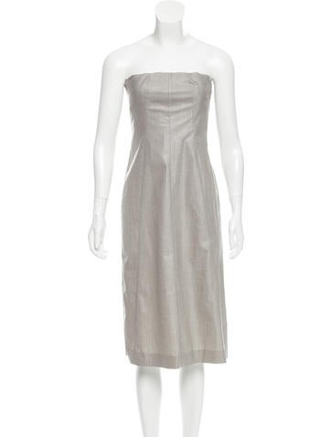 Narciso Rodriguez Wool Strapless Dress None