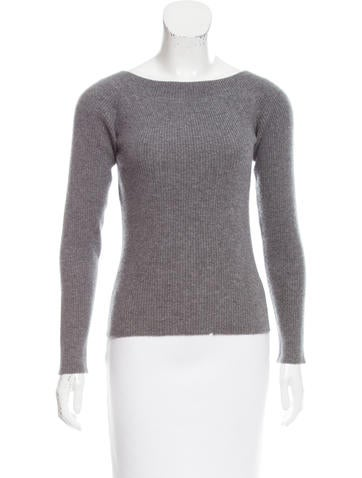 Narciso Rodriguez Wool & Angora Long Sleeve Sweater None