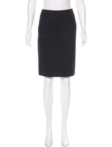Narciso Rodriguez Virgin Wool Pencil Skirt None