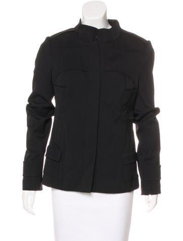 Narciso Rodriguez Wool-Blend Structured Jacket None