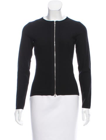 Narciso Rodriguez Wool Zip-Up Sweater None