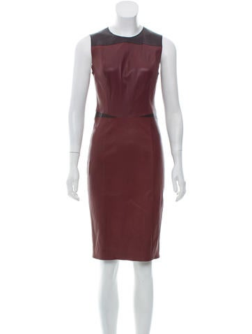 Narciso Rodriguez Leather Colorblock Dress None