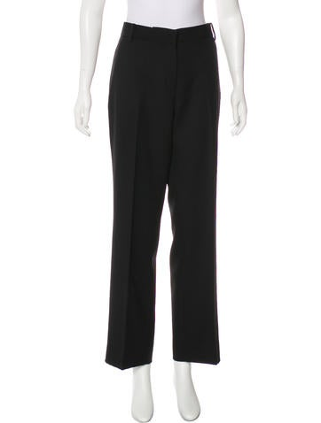 Narciso Rodriguez Wool High=Rise Pants None
