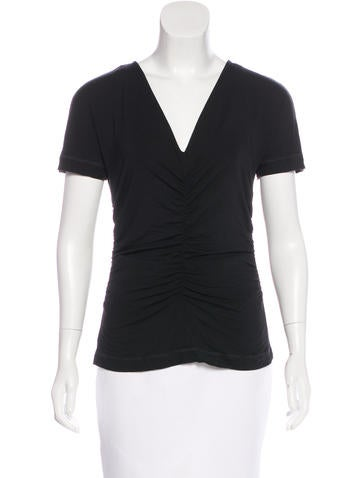 Narciso Rodriguez Ruched Short Sleeve Top None