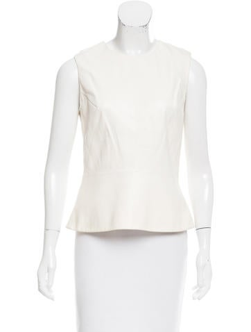 Narciso Rodriguez Sleeveless Leather Top None