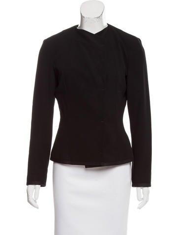 Narciso Rodriguez Asymmetrical Wool Jacket None