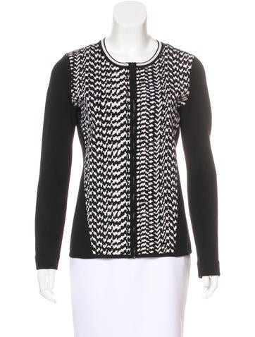 Narciso Rodriguez Wool Zip-Up Cardigan None