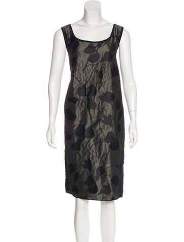 Narciso Rodriguez Jacqaurd Midi Dress None