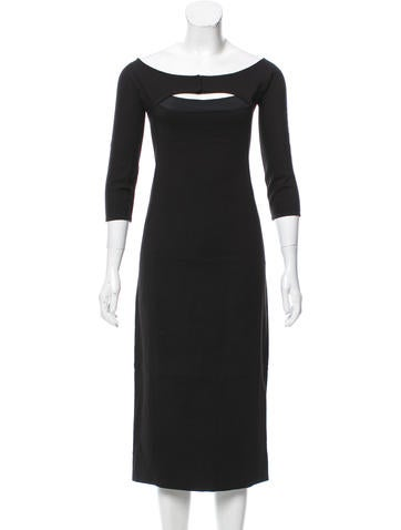 Narciso Rodriguez Long Sleeve Midi Dress None