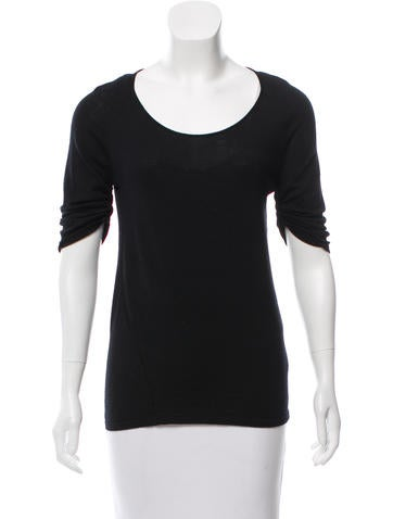 Narciso Rodriguez Wool Thee-Quarter Sleeve Top None