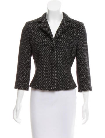 Narciso Rodriguez Wool & Alpaca-Blend Structured Jacket None
