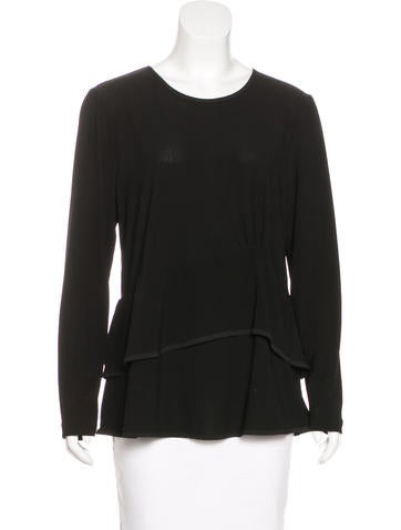 Narciso Rodriguez Long Sleeve Peplum Top None