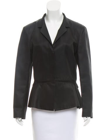 Narciso Rodriguez Mock Neck Long Sleeve Jacket None