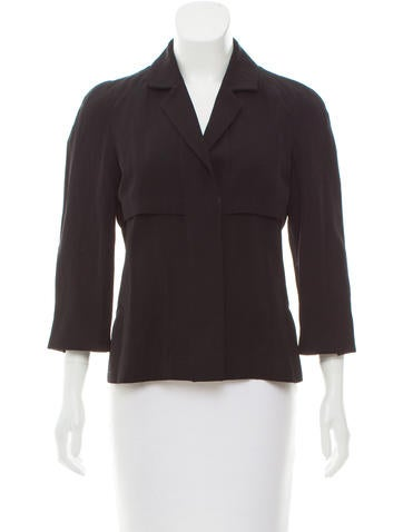 Narciso Rodriguez Wool-Blend Notched-Lapel Blazer None