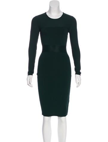 Narciso Rodriguez Rib Knit Midi Dress None