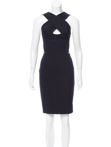 Narciso Rodriguez Cutout-Accented Wool Dress None