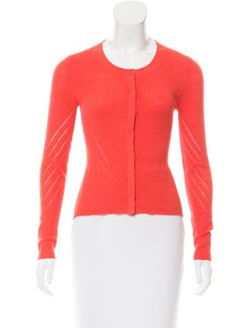 Narciso Rodriguez Wool Perforated Cardigan None