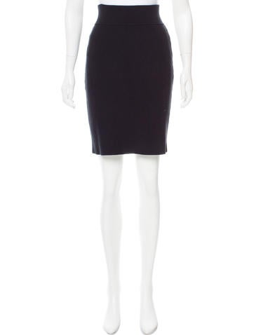 Narciso Rodriguez Rib Knit Knee-Length Skirt None