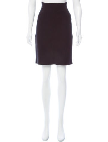 Narciso Rodriguez Ribbed Knee-Length Skirt None