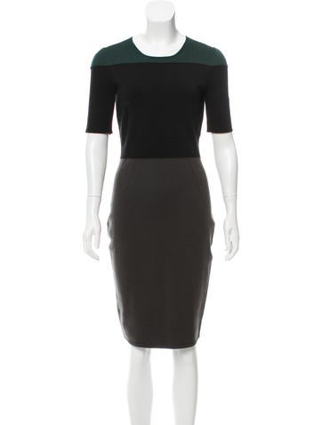 Narciso Rodriguez Colorblock Knee-Length Dress None