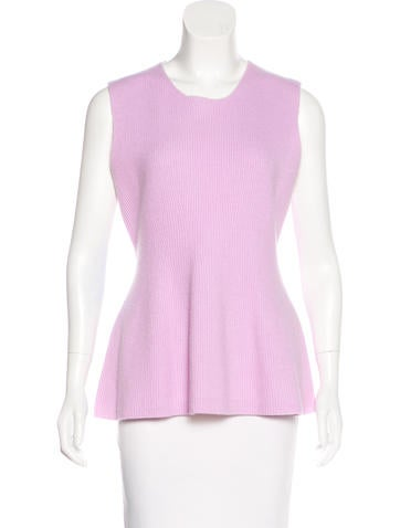 Narciso Rodriguez Wool and Cashmere-Blend Top None