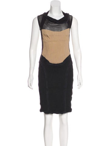 Narciso Rodriguez Sleeveless Colorblock Dress None