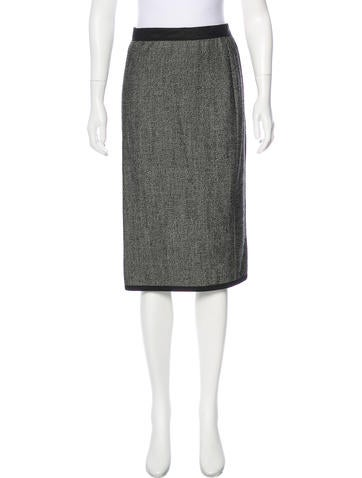 Narciso Rodriguez Wool-Blend Skirt None