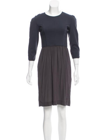 Narciso Rodriguez Wool & Silk-Blend A-Line Dress None