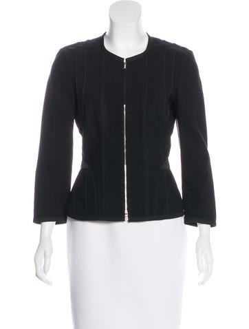 Narciso Rodriguez Long Sleeve Zip-Up Jacket None