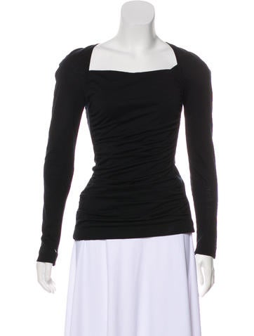 Narciso Rodriguez Wool Ruched Top None