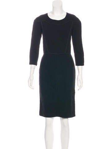 Narciso Rodriguez Wool Sheath Dress None