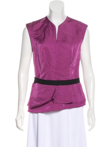 Narciso Rodriguez Sleeveless Pleated Top None
