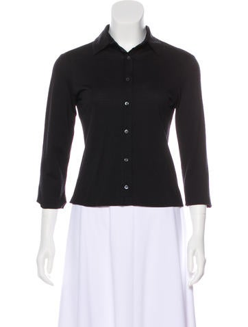 Narciso Rodriguez Wool Button-Up Top None